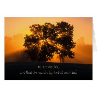 Tarjeta Fluir la luz de navidad