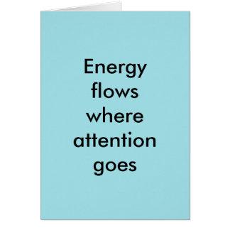Tarjeta Flujos de energía donde va la atención