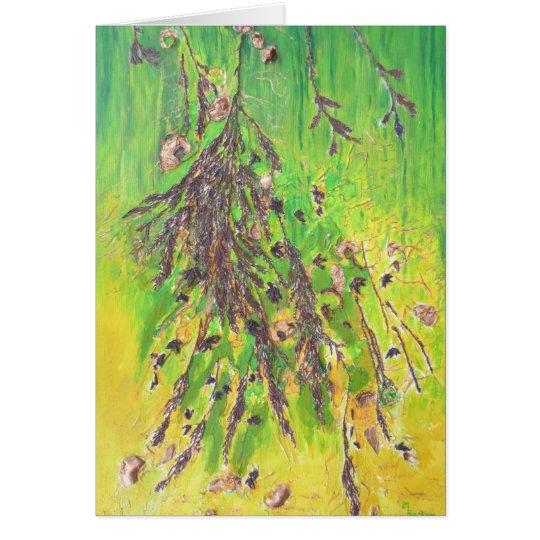 Tarjeta Follaje en rama de árbol