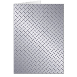 Tarjeta Fondo de acero brillante de la placa del diamante