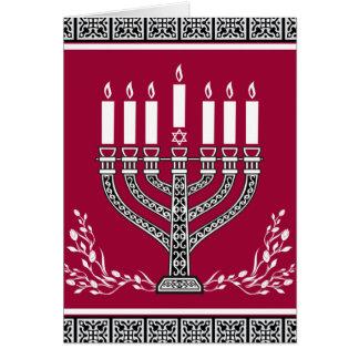 Tarjeta Fondo judío del día de fiesta con Menorah