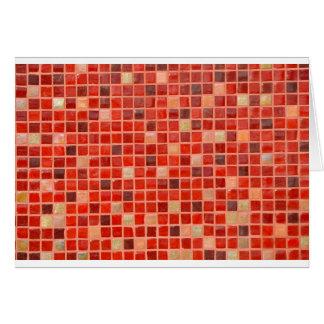 Tarjeta Fondo rojo de teja de mosaico