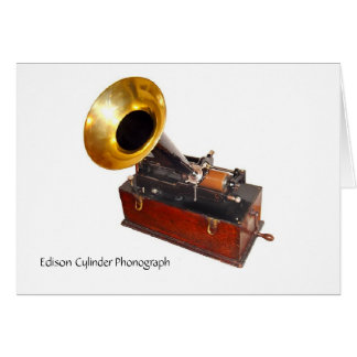 Tarjeta Fonógrafo del cilindro de Edison