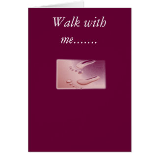 Tarjeta footprints2, paseo conmigo .......