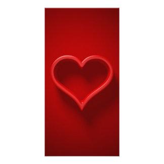 Tarjeta forma de cardíaco con luz y sombra - eres