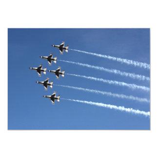 Tarjeta Formación del delta de los Thunderbirds F-16
