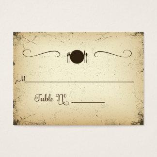 Tarjeta formal del lugar de la tabla del boda del