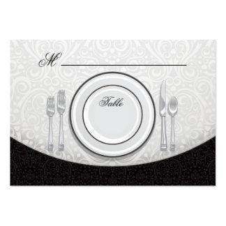 Tarjeta formal del lugar del asiento de la tabla tarjetas de visita grandes