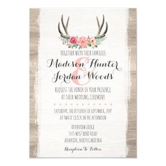Tarjeta Formal personalizada boda rústico floral de las