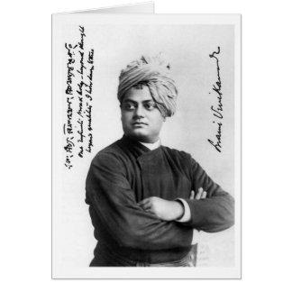 Tarjeta Foto América 1893 de Vivekananda del Swami del