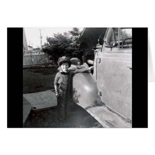 Tarjeta foto blanco y negro de los años 50