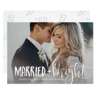 Tarjeta Foto casada y brillante del día de fiesta