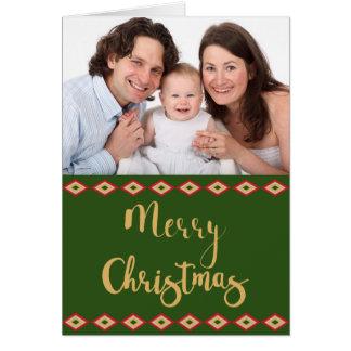 Tarjeta Foto de encargo del día de fiesta del navidad