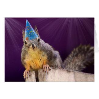 Tarjeta Foto de la ardilla del cumpleaños