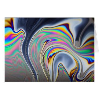 Tarjeta Foto de la macro de la burbuja de jabón