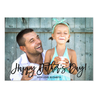 Tarjeta Foto de moda del día de padre de la escritura el |
