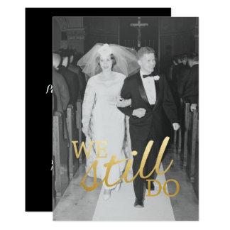 Tarjeta Foto del aniversario de boda del personalizado