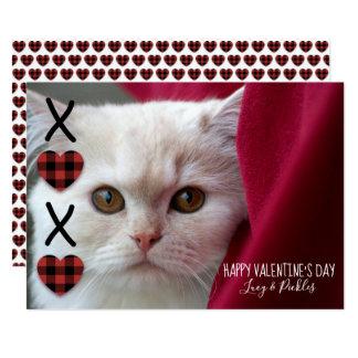 Tarjeta Foto del el día de San Valentín de la tela