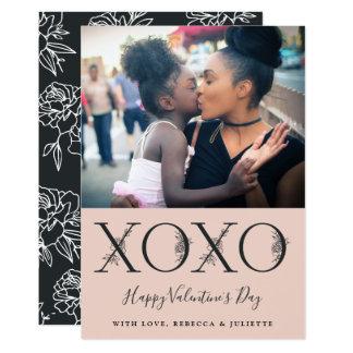 Tarjeta Foto del el día de San Valentín de XOXO el  