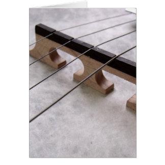 Tarjeta Foto del primer del banjo