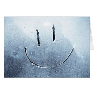 Tarjeta Foto en blanco helada cara sonriente