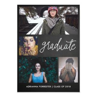 Tarjeta Foto graduada cuatro de la escritura el | del