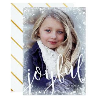 Tarjeta Foto helada el | alegre del navidad