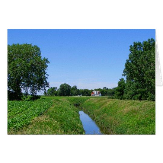 Tarjeta Foto hermosa de la zanja de irrigación de la