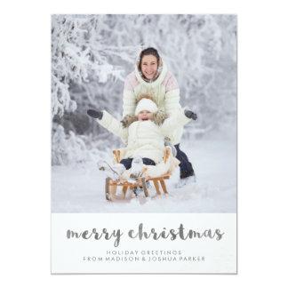 Tarjeta Foto minimalista de las Felices Navidad