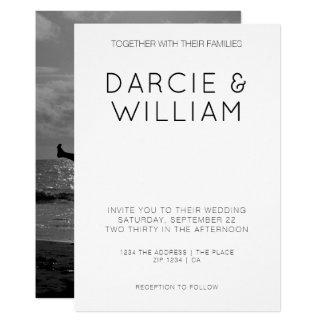 Tarjeta Foto personalizada boda elegante simple moderno