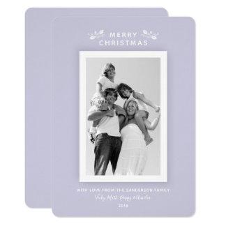 Tarjeta Foto púrpura en colores pastel mínima elegante del