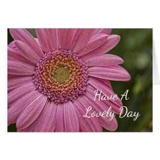 Tarjeta Foto rosada bonita de la flor del verano genérica