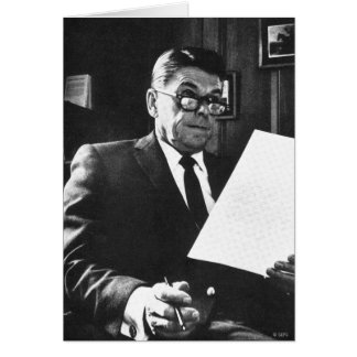 Tarjeta Fotografía de Ronald Reagan