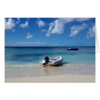 Tarjeta Fotografía del Caribe hermosa del barco de