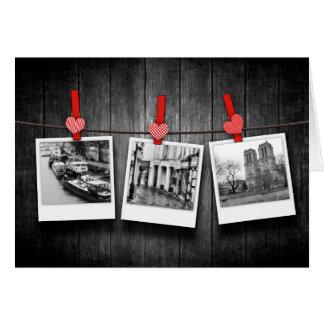 Tarjeta fotos de encargo personalizadas en cuerda para