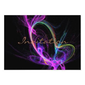 Tarjeta Fractal eléctrico rosado