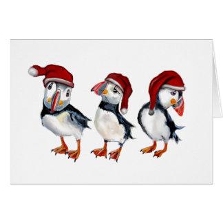 Tarjeta Frailecillos del navidad