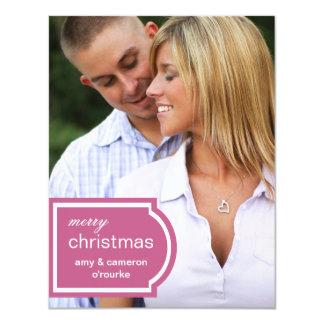 Tarjeta-frambuesa marcada con etiqueta del navidad invitación 10,8 x 13,9 cm
