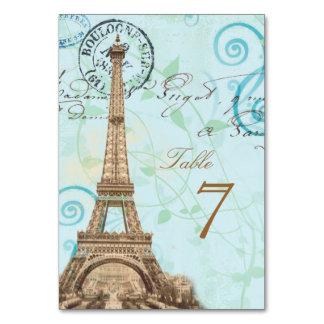 Tarjeta francesa de la tabla de la aguamarina de l