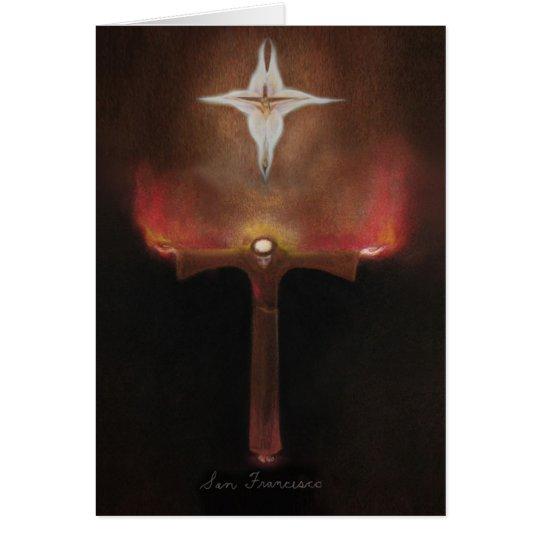 Tarjeta Franciscos de Asís del santo
