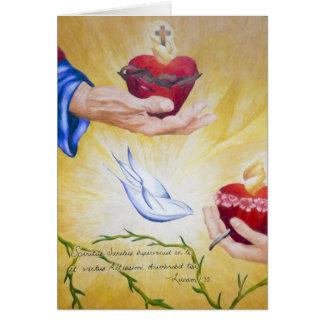 Tarjeta Franqueo de dos 1:35 de los corazones y de Lucas