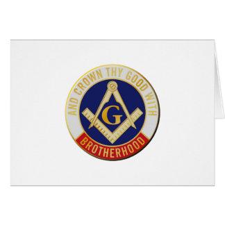 Tarjeta Fraternidad de los albañiles