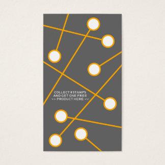 tarjeta frecuente anaranjada del comprador de la
