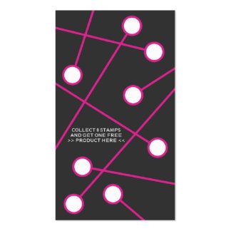 tarjeta frecuente rosada del comprador de la MOD Plantilla De Tarjeta Personal