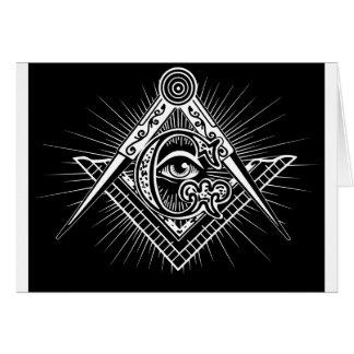 Tarjeta Freemasonry-Masónico-Albañilería