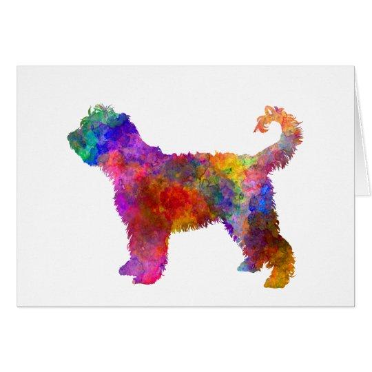 Tarjeta French Water Dog in watercolor