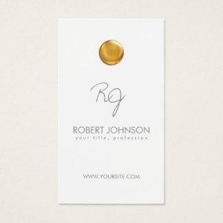 Tarjeta fresca con monograma del punto de oro