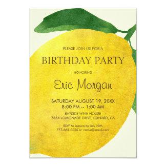 Tarjeta fresca de la invitación del cumpleaños del