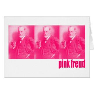 Tarjeta Freud rosado
