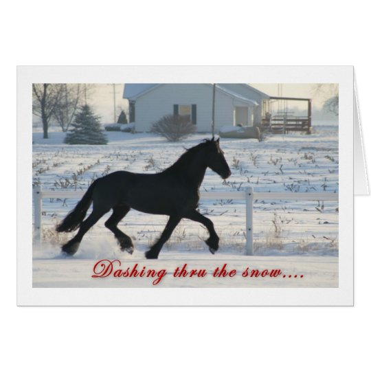 Tarjeta frisia del día de fiesta del caballo